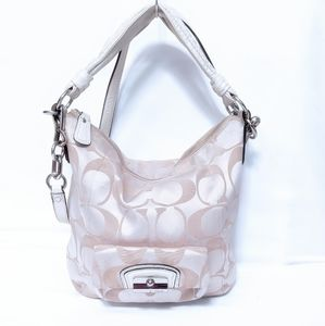 Coach Kristin Sateen and Leather Convertible Hobo